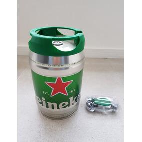 Barril Heineken 5l Vazio - Com Válvula E Torneira Novas.