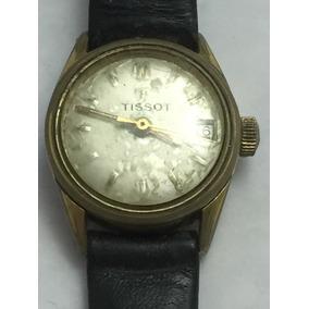 Reloj Vintage Tissot Dama Cuerda Fechador Envio