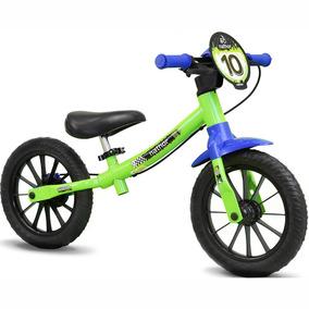 Bicicletinha Sem Pedal Equilíbrio Balance Bike Verde Nathor