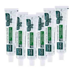 Kit Com 6 Unidades Da Pasta Dental Natural Menta E Melaleuca