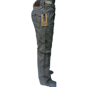 Pantalón Tipo Cargo De Gabardina Para Hombre