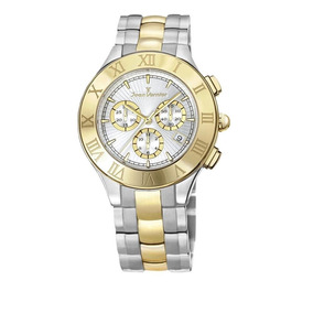 b683e4aa74d Modernity Jóias Relógio Jean Vernier Jv 2096 Aço E Couro - Relógios ...