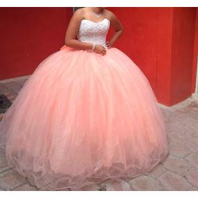 Vestido Quinceañera Princesa Coral Flores Xv Años Falda Cort