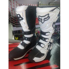4cfefb4a7ba7c Bota Fox Mx Comp 5 Branca Usada Motocross Modelo 2018 Trilha