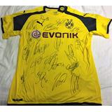 Camisa Borussia Dortmund Autografada Elenco 2016 17 fadfad016d5f2