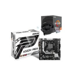 Kit Processador Amd Ryzen R5 1600 Asrock A320m Pro4 I