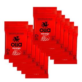 Kit Olla Preservativo Sabor Morango 3uni. Com 12 Packs