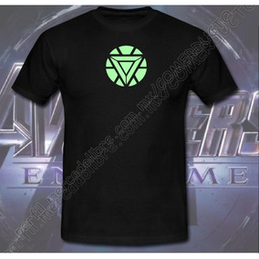 Playera Iron Man Reactor Arc Version 2 Brilla Oscuridad Bwta