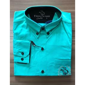 f8e79dbe4f942 Camisa Masculina Bordada Tamanho P - Terra De Peão - R 99