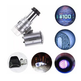 Microscopio 60x Portatil Detecta Billete Falso Luz Led Uv