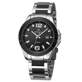 Relógio De Pulso Masculino Megir 5006 Original Pulseira Aço
