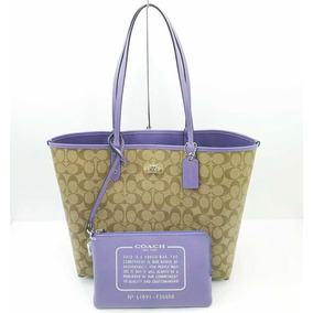 Bolsa Coach Reversible Signature Purple