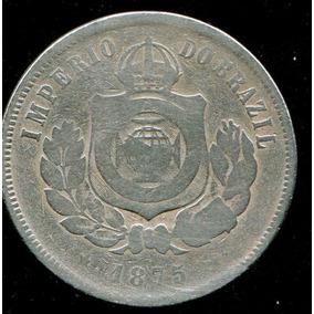 Moeda Brasil Império 200 Réis 1875 - Bc - Níquel - Rara L27