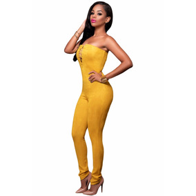 Body Strapless Moda Sexy Amarillo Mostaza Table Dance 64157