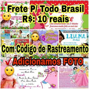 40 Convites Infantil Personalizados C/ Foto