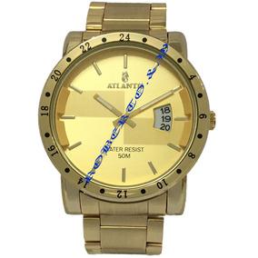 fde34080a3e Relogio Atlantis G3242 Dourado - Relógios De Pulso no Mercado Livre ...