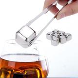 Set De 8 Rocas Cubos Para Whisky Enfriar Hielo Bebidas Bar