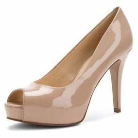 Sapato Feminino Peep Toe Meia Pata Verniz - Importado