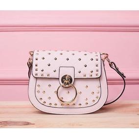 6801200321826 Bolsa Em Couro Redonda - Bolsas Femininas Rosa claro no Mercado ...