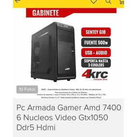 Pc Armada Gamer Amd 7400 6nucleos Video Gtx1050 Ddr5 Hdmi.