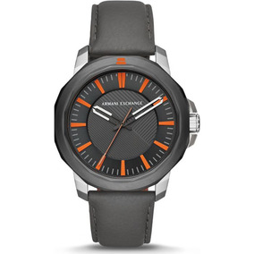 Bon Armani Exchange Ax Em Couro Placa De Metal Em Bh - Relógios De ... 854f381543