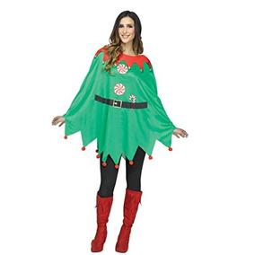 Poncho De Elfo Para Mujeres Fun World, Multicolor, Estandar