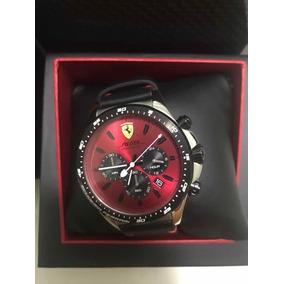 Relógio Ferrari 0830387 Pulseira De Couro. Modelo Pilota