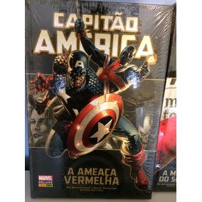 Capitão América - 4 Capa Dura Novos E Lacrados - Ed Brubaker