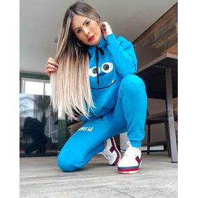 Conjunto Moletom Monstro Sa Feminino 2019
