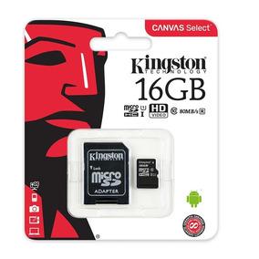 Tarjeta De Memoria Micro Sd Kingston 16gb Con Adaptador Sd