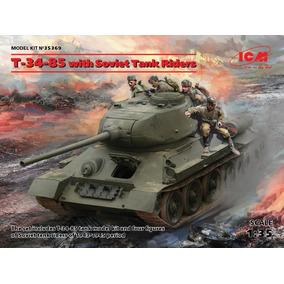 Icm Tanque T -35-85 Con Tripulantes 1/35 Supertoys Envios