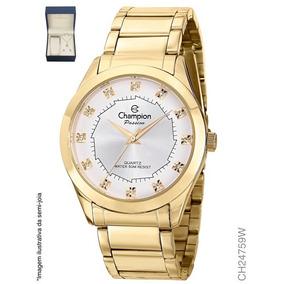 a2823f431c7 Relogio Dourado Com Strass Bijuteria - Joias e Relógios no Mercado ...