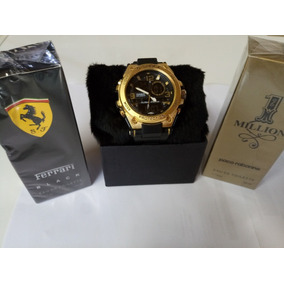 6bf5bd2584f Kit 2 Perfume Luxo+relógio Masculino G-chóck Modelos Oferta