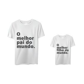 fdcc32a3fb Camiseta Melhor Pai Mundo - Camisetas Manga Curta no Mercado Livre ...