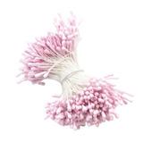1 Paquete Artificial Mate Cabezas Dobles Flor Estambre Pist