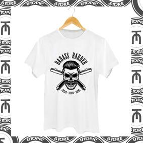 1f369633fe1 Camiseta Barbearia - Badass - Skull - Barbershop