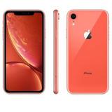 Apple iPhone Xr 64gb Coral Anatel Novo Lacrado Garantia