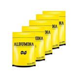 5x Albumina 500g Naturovos Total 2,5kg (sabores) + Brinde