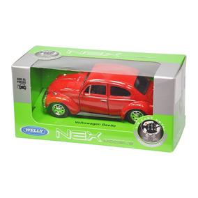 Miniaturas Carros 1:34 Vw 2 Fusca + Kombi Welly