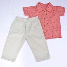 Conjunto Masculino Para Bebê Ref 643 Goiaba