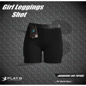 Leggings Mallon Licra Short Mujer Negro Play Fit
