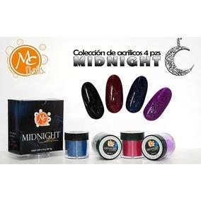 Polvos Acrílicos 4 Pzs Uñas , Colección Midnight , Mc Nails