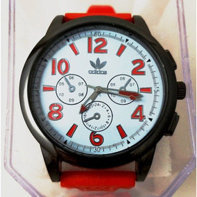 Relógio Masculino adidas Pulseira De Silicone Vermelha