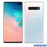 Samsung Galaxy S10+ Branco, Com Tela De 6,4, 4g, 128 Gb E C