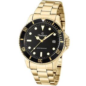 Relógio Masculino Champion Dourado Preto Ca31266u Promoção