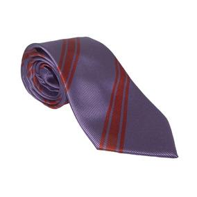 Corbata Italiana Morada Con Diagonales Rojas
