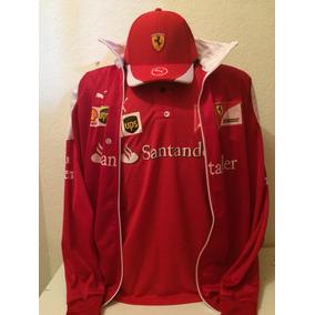 Kit Camiseta Polo+bone+jaqueta Ferrari Santander Vermelha 60b12ea1e6a
