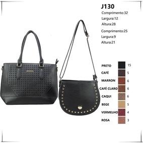 Bolsa Feminina Kit Conjunto 2 Peças Varias Cores Lindas Luxo