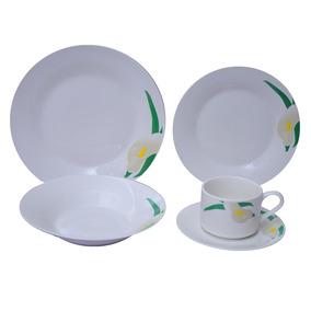 Jogo De Jantar 20 Peças Porcelana Innova - Floral Lily 25,5
