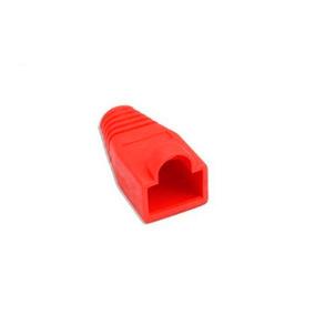 Bota De Goma Protectora Para Conector Rj45 Color Rojo